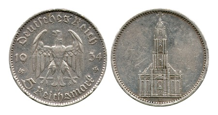 reich: five marks, German Reich, catholic church, 1934