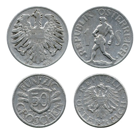 shilling: one shilling, fifty grosh, Austria, 1946 Stock Photo