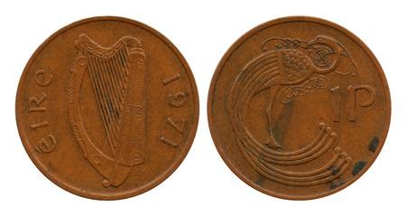 penny: one penny, Ireland, 1971