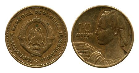 yugoslavia: ten dinar, Federative Public Republic Yugoslavia, 1955