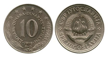 dinar: ten dinar, Socialist Federative Republic Yugoslavia, 1978