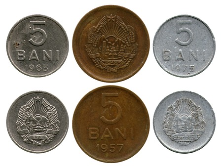 bani: five bani, Republic Romania, 1957-1975