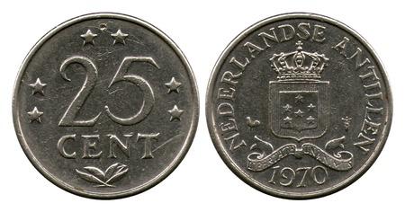 cents: twenty five cents, Netherlands Antilles, 1970