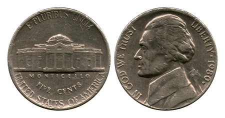 five cents: five cents, USA, Dzheferson, 1980