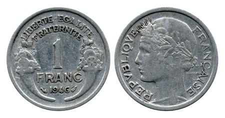 franc: one franc, Republic France, 1946