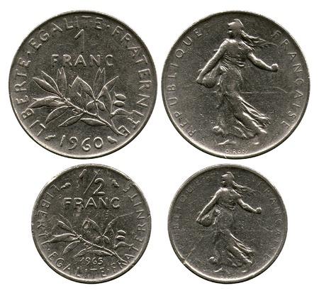 franc: franc and half of the franc, France Editorial