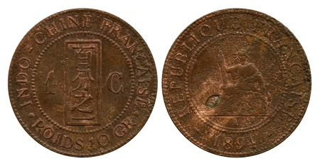 indo china: one cent, French Indo-China, 1894