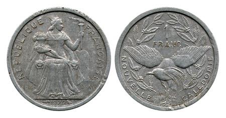franc: one franc, New Caledonia, 1972 Editorial