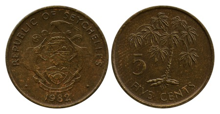 five cents: five cents, Republic Seyshelles, 1982
