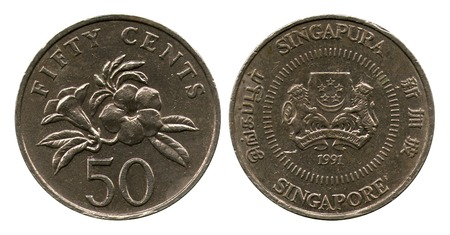 cents: fifty cents, Singapore, 1991