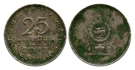 five cents: twenty five cents, Sri Lanka, 1978