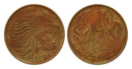 cents: ten cents, Ethiopia, 1969