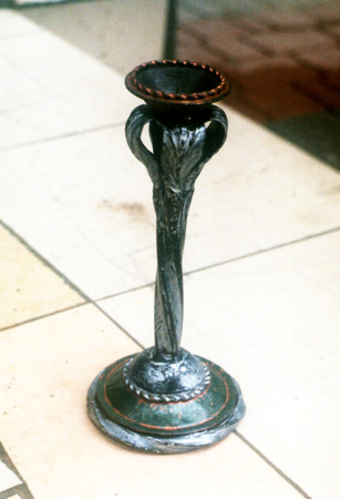 decorative forged candlestick Stock Photo
