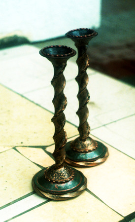forged candlesticks