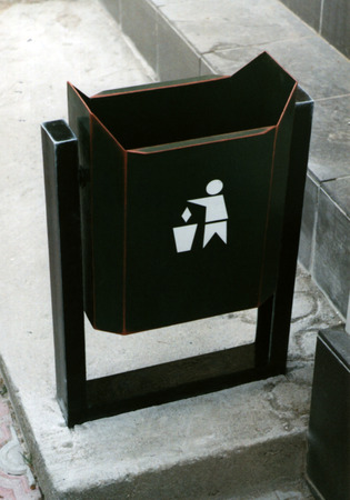 urn for street rubbish