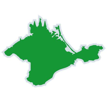 crimea: island Crimea Illustration