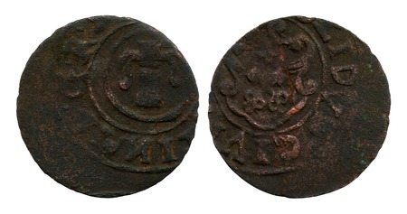 shilling: false shilling of the free city Riga, Livonia, queen to Swedens Kristina, 1644