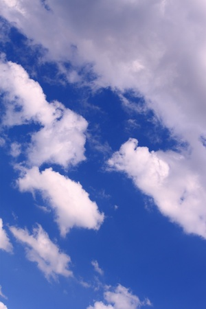 cloudiness: A height cloudiness is in summer blue sky Stock Photo