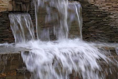 Decorative water cascade Stock Photo