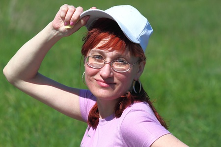 fervour: Woman with glasses and in a cap