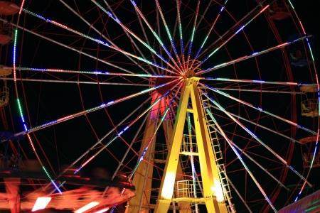 Ferris Wheel in nightly illumination Stock Photo