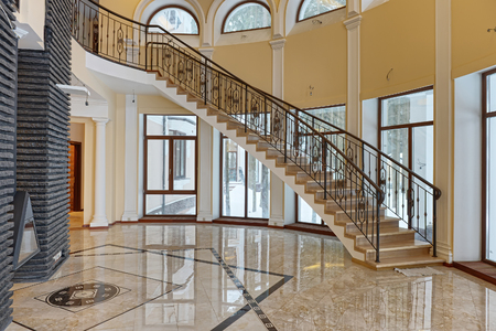 Russia, Moscow region Design of stairs in a country house