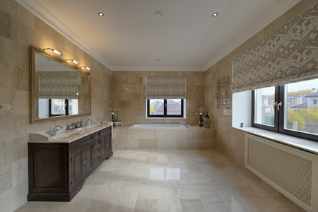bidet: Russia, Moscow region - bathroom interior in new luxury country house