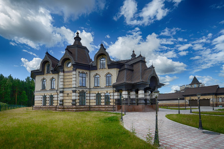 Russia, Moscow region, beautiful country house