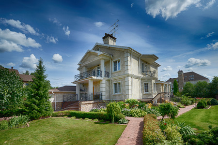 luxury house: country house Stock Photo