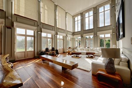 モダンな家のリビングルームのインテリア。