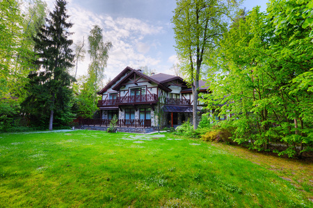 Russia, country house, Chalet in the woods Stock Photo