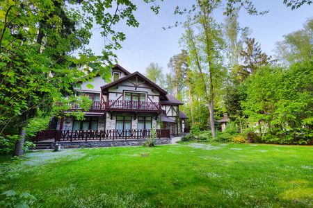 Russia, a country house in the woods