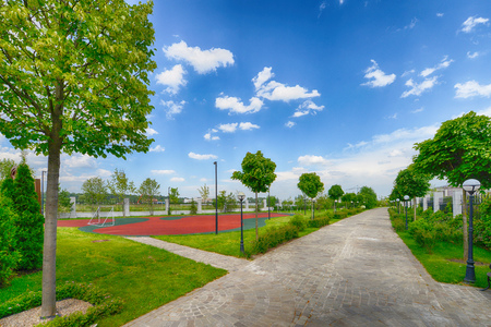 Park on a Sunny summer day