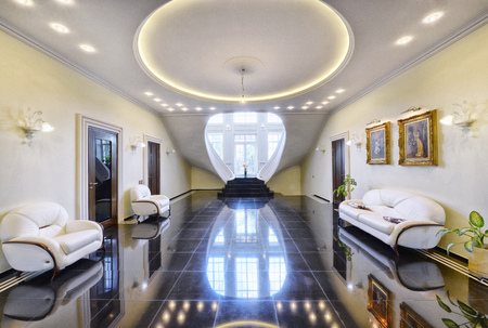 Luxurious interiors of the house. Stock Photo