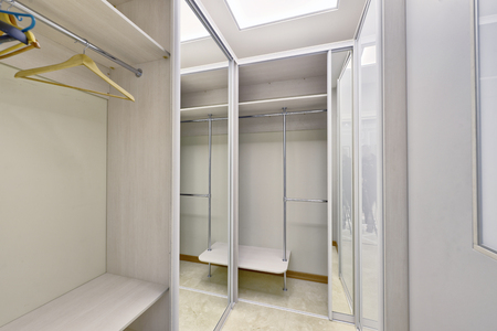 Dressing room in the interior of a modern house.