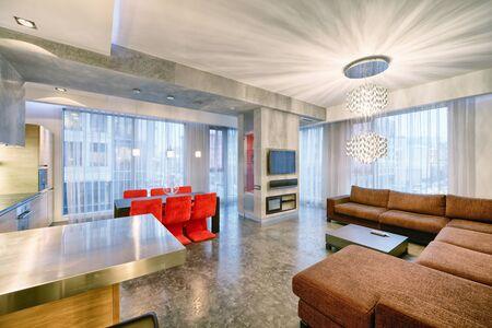 Living room interior in modern house.