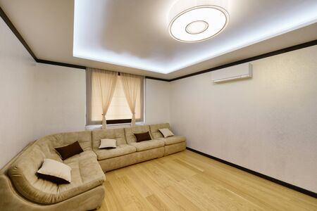 Sofa in the interior of a modern house.