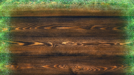 Congratulatory background. Natural toned wooden planks made of larch. Imagens