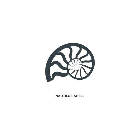 Nautilus shell icon, isolated on white background. For your project. Vector illustration.