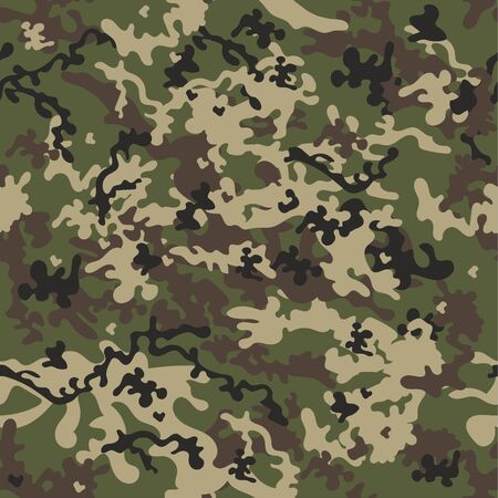 Camouflage seamless pattern, classic style. Vector background. 向量圖像