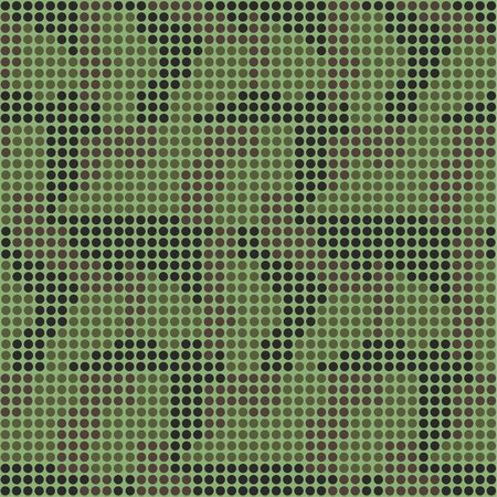 Camouflage seamless pattern, dots style. Vector background.