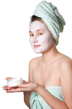 young woman and skin care photo