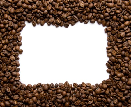 border made from coffee beans Stock Photo - 4068561