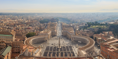 st peter s square: View of the historic center of Rome from the dome of St. Peter