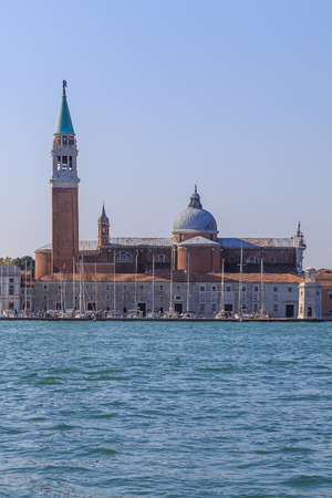 fasade: View of San Giorgio Maggiore Island with the Canal in Venice, Italy