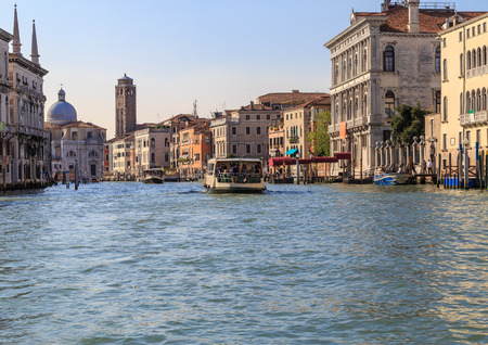 Attractions Venice Grand Canal, early summer evening Stock Photo