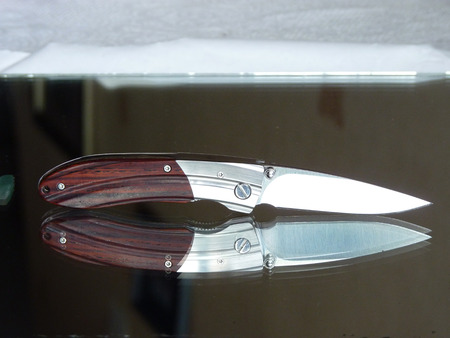 carbonaceous: Penknife for the hidden carrying, as a collecting subject Stock Photo