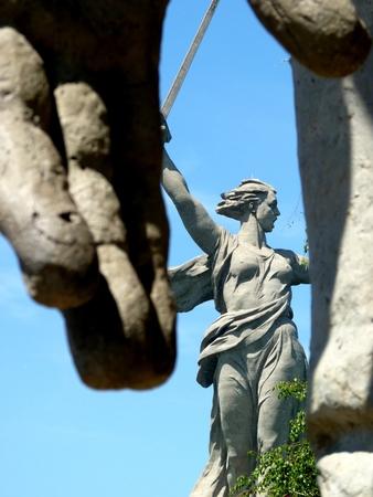 liberator: The greatest sculpture in the world  Motherland  on Mamayev Kurgan in Volgograd