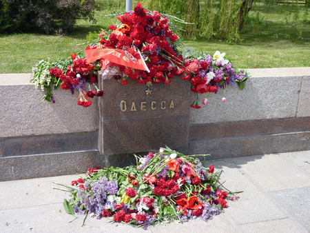 grieve: Residents Volgograd grieve on the lost people in the city of Odessa after genocide of locals on May 2, 2014  Editorial