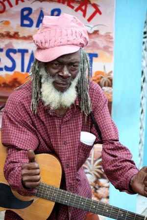 Optimistical inhabitant of Jamaica, reporting 新聞圖片